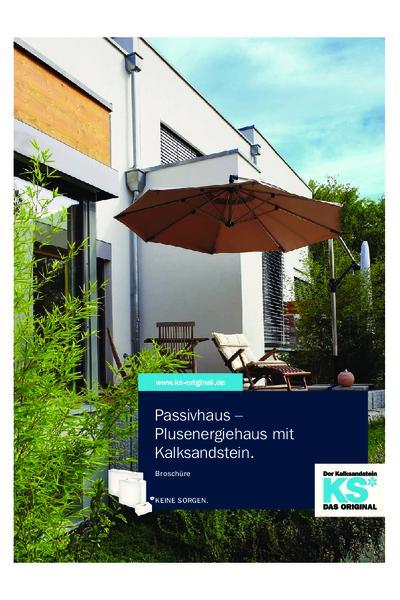 Passivhaus - Plusenergiehaus mit Kalksandstein