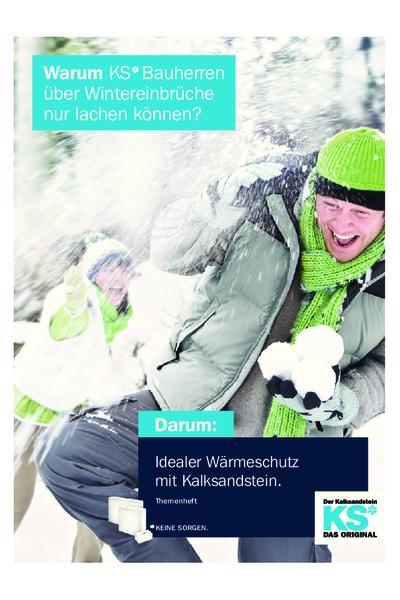 Idealer Wärmeschutz mit Kalksandstein - Themenheft