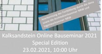 Bauseminar 2021 Special Edition im Westen am 23.02.2021