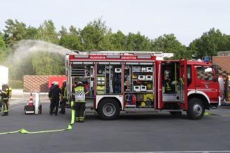 Feuerwehreinsatz auf unserem Betriebsgelände in Emsdetten