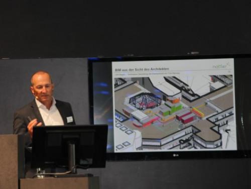 """Heinz-Georg Guth hatte mit dem Thema """"BIM"""" den Volltreffer beim Thema Zukunft Bauen."""